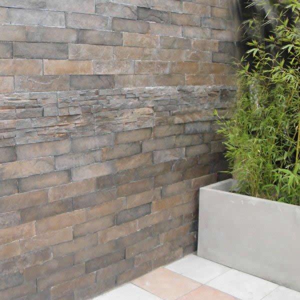 revestimiento de muros atrio